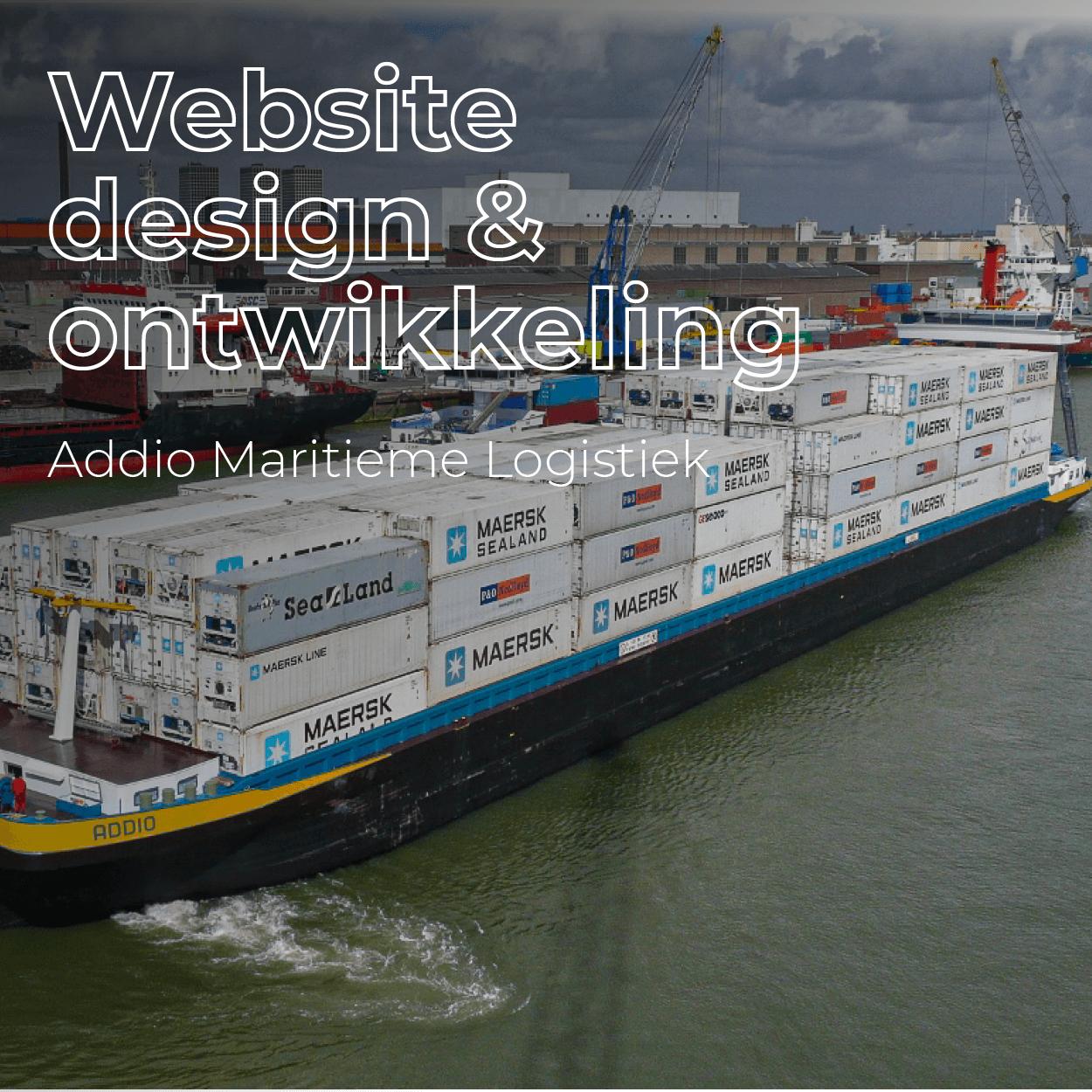 Addio maritieme logistiek nieuwe website